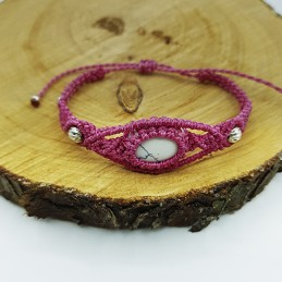 Pulsera rosa chicle piedra...